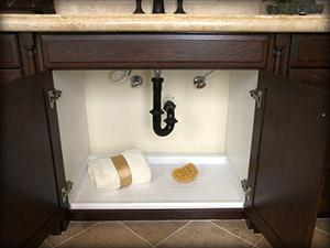 Bathroom Slide N' Fit Under Sink Pan