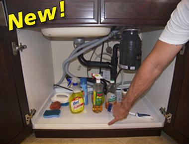 Slide N' Fit Cabinet Protector Pan